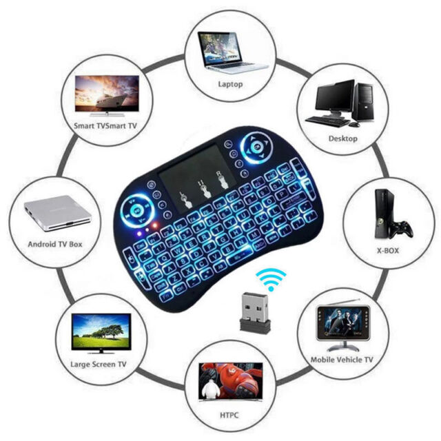 Wireless mini 2.4Ghz Keyboard Touchpad Smart TV Android Box PC HTPC Rechargable