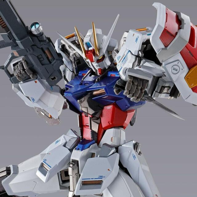 Bandai Metal Construye Infinito Limitado GAT-X105 Huelga Gundam Figura de Acción