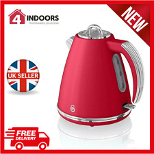 Retro 1.5 Litre Jug Kettle with 360 Degree Rotational Base Red SK19020RN Swan 3KW