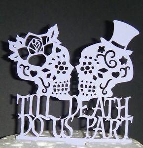 Image Is Loading Till Do Us Sugar Skull Silhouette Wedding