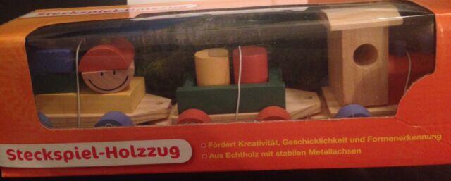 Steckspiel - Holzzug (Eisenbahn / Zug) / Neu & OVP / f. Kinder 1+ / aus Echtholz