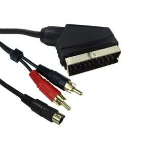 1-5m-SCART-to-SVHS-S-VHS-Super-Video-2x-RCA-Phono-Audio-Video-AV-Cable-Lead