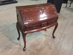Ribalta antica mobile scrittoio in legno mogano comò cassettiera 800 XIX secolo