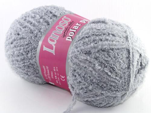 100g Weiche Fransen Wolle POLAR PUF von Lanoso Amigurumi Kuscheltiere BabyDecke
