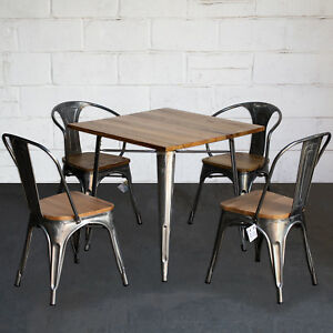 Dining Table Chair Sets Steel Metal