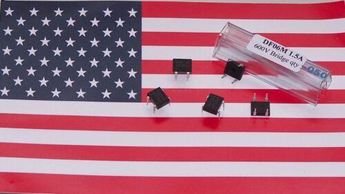 25pcs DF06M 4 PIN DIP4 PDIP Fairchild 600V 1.5A Bridge Rectifier US Seller