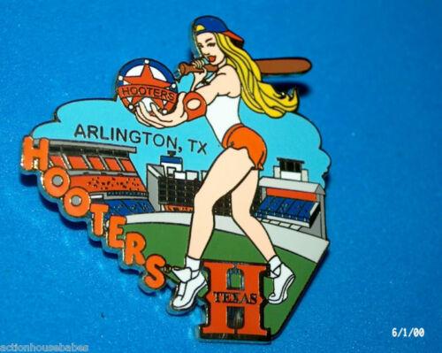 HOOTERS RESTAURANT COLLECTABLE ARLINGTON TEXAS TX BASEBALL GIRL LAPEL PIN