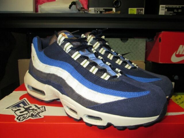 brand new c105a 6b3ba Nike Air Max 95 Premium Shoes Blackened Blue 2018 SNEAKERS - 538416-404