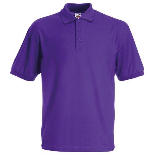 Fruit of the Loom enfants Polo Shirts Garçons Filles Uniforme Scolaire 65//35 Polo NEUF