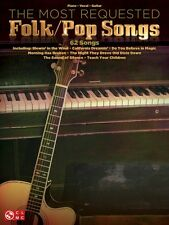 The Most Requested Folk Pop Songs Sheet Music Piano Vocal Guitar SongB 000110225