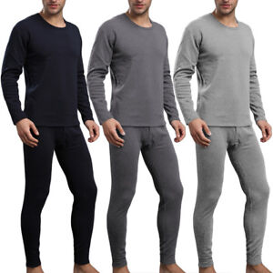 87ead37eb24 Mens 2pc Ultra-Soft Thermal Underwear Set Long Johns Top   Bottom M ...