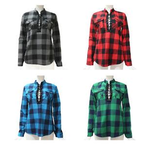 Camisas-de-cuadros-de-mujer-Blusas-de-manga-larga-otono-primavera-Tunica-ca-Y7L8