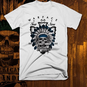 Warrior Chief Skull indigenous Warface Native American Indian T-Shirt S-3XL