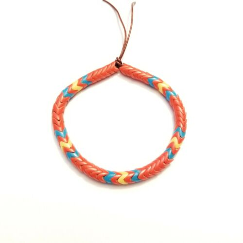 Blue Yellow. Red 60 Glass Interlocking Snake Africa trade beads 6mm 6/""
