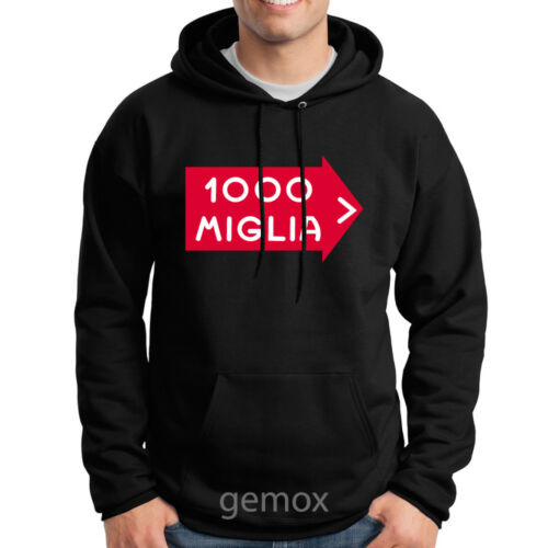Mille 1000 Miglia Pullover Hoodie Sweater Sz S 3XL