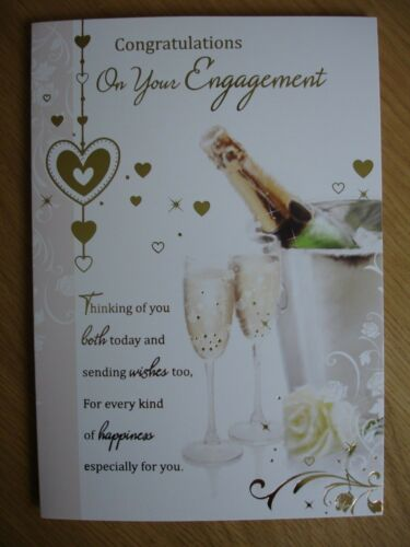 Engagement card ~ congratulations on your engagement ~ various designs