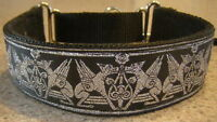 Silver Griffin Martingale Dog Collar Lead Whippet Greyhound Saluki Afghan Hound