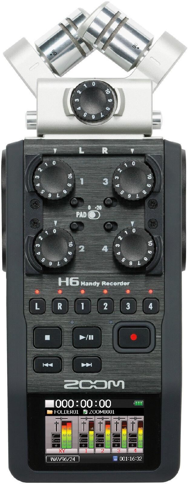 New Zoom H6 Handy Modular Field Recorder Auth Dealer Garantie Best Deal auf ebay