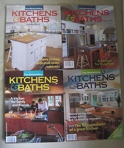 Details about Taunton\'s Fine Homebuilding Kitchens & Baths Annual Back  Issues Magazines Lot 4