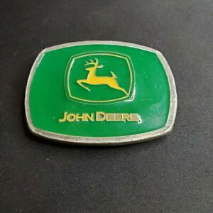 John Deere Green Yellow Belt Buckle, 2000, Officially licensed, Made in USA