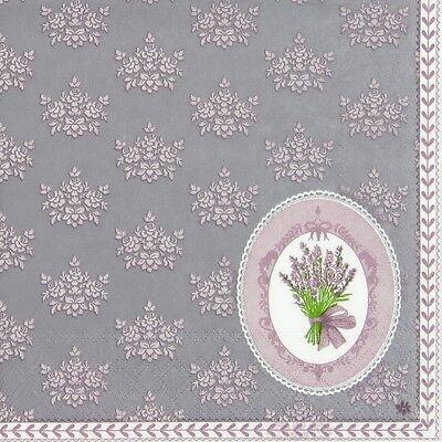 4x Paper Napkins for Decoupage Vintage La Senteur de Lavande