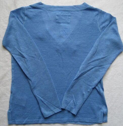 ESCALES PARIS Damenpullover PULL COL V LIN F111202  Blau Leinen