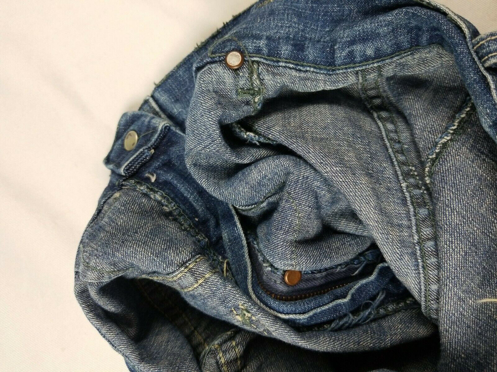 Vintage 1940s Lee High Waisted Side Zip Jeans Usa… - image 10