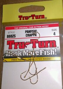 Tru-Turn 853ZS Panfish//Crappie Hook Cam-Action Blood Red qty 7