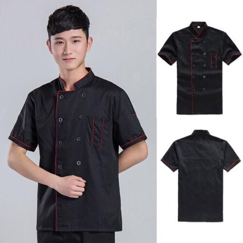 6pcs Lot Chef Uniform Outfit Short Sleeve Work Clothes Coats Hotel Jacket Shirt
