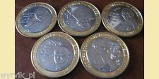 JOHN PAUL II set of 5 coins UNC