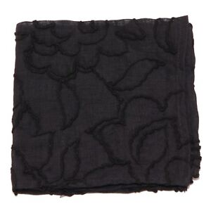 9132w Pochette Uomo No Brand Black Cotton Pocket Square Man