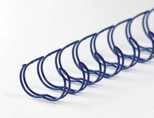 Drahtbinderücken 23 Ringe 12,7mm 1//2 Zoll 2:1 Teilung blau