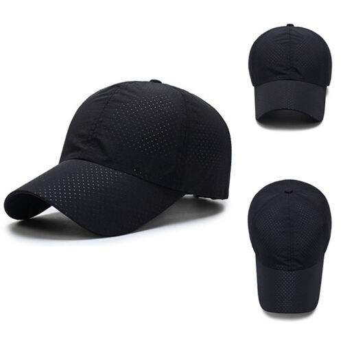 Men Women Summer Snapback Quick Dry Mesh Baseball Cap Sun Hat Breathable Hats N*