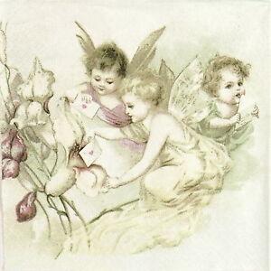4x-Paper-Napkins-for-Decoupage-Sagen-Vintage-Love-Letter-Angels