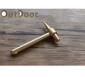 EDC Brass Mini Hammer Retro Auspicious Keychain Key Ring Pendant Vintage Gift