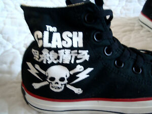 fdd2a7a40436 THE CLASH CONVERSE ALL STAR CHUCK TAYLOR HIGH TOP SNEAKERS NEW NIB ...