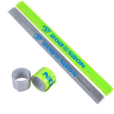 Cycling Bike Running Jogging Safety Reflective Belt Strap Arm Band Snap Wrap