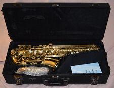 Yamaha-Professional-YAS-62II-Gold-Alto-Saxophone-G1-Saxophone Neck-Original Case
