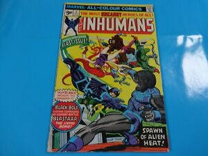 inhumans-1-issue-marvel-Comic-book-Bronze-1st-print
