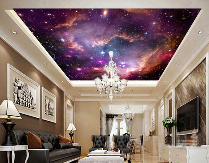 3D Glänzend Sterne 74 Fototapeten Wandbild Fototapete BildTapete Familie DE Kyra