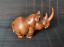 thumbnail 1 - Chinese Natural Boxwood Hand carved Exquisite Rhinoceros Statue