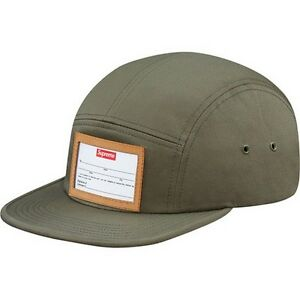 0832731ef1e SUPREME Big Game Camp Cap Olive box logo tnf et crowbar F W 15