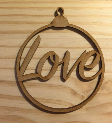 "Wedding Birthday Tag ""Love"" Christmas Tree Bauble Gift Tag Anniversary"