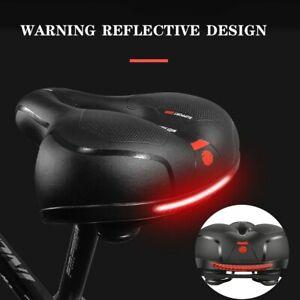 Reflective Wide Big Bum Bike Bicycle Cycling Gel Comfort Seat Saddle Safty🔥