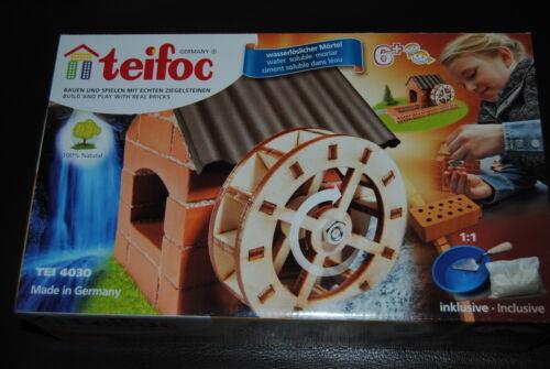 Bauen mit echten Ziegelsteinen Steinbaukasten Wassermühle Teifoc TEI 4030
