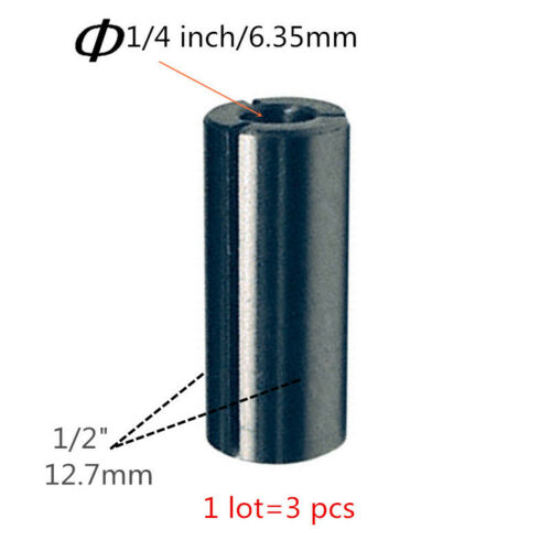 Collet Sleeve for Makita 763803-0 3612c 3612 1//4 Bit 3612BR 3612 3600H Routers