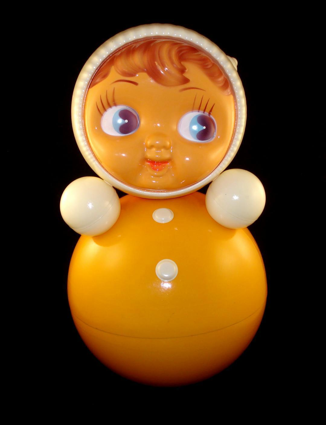 VINTAGE OLD GIANT Talla 15  RUSSIAN SOVIET CELLULOID RoLy-PoLy Ding Doll Baby