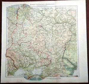 Cartina Geografica Russia Ucraina.Carta Geografica Antica Russia Meridionale Ucraina De Agostini 1927 Antique Map Ebay