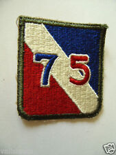 PATCH US ARMY 75th INFANTRY DIVISION 2ème GM ? WW2 US BADGE ?