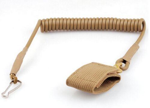 Tactical Sling Lanyard Spring Rope Elastic Belt Keychain Camping Hiking US
